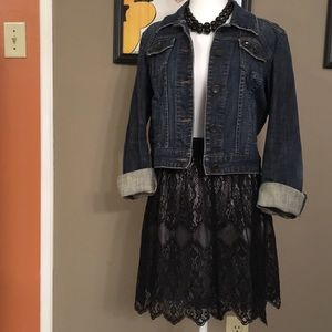 Allen B black lace skirt, size medium